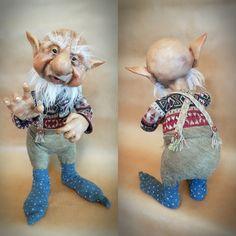 Poseable House Gnome 'Hodwin' Art Doll.