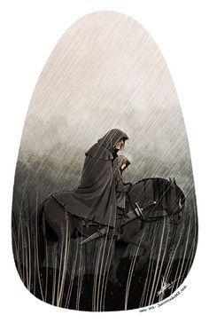 The Hound and Arya.