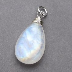 Huge Rainbow Moonstone Pendant Sterling Silver by TheDangleDiva