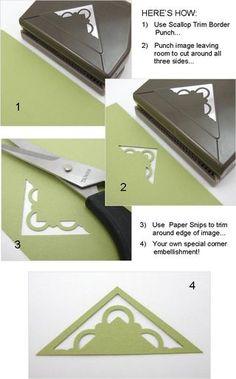 Heres How - Linda Aarhus | scallop corner punch bookmark