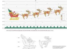 Sew Beautiful Blog: Free Daily Design: Santa and Reindeer Picture Smocking Plate