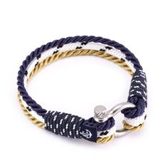 Nautical Bracelet #4036 Hand made from authentic nautical materials.