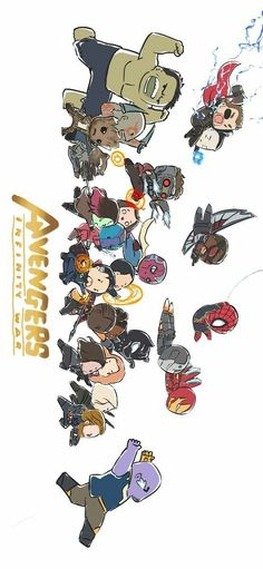 Avengers Infinity War IronMan Guardians of the galaxy Thor SpiderMan Captain America Black Panther Black Widow Cr Peemphat Savikul Marvel Avengers, Memes Marvel, Chibi Marvel, Marvel Funny, Marvel Dc Comics, Marvel Heroes, Marvel Characters, Batman Chibi, Baby Avengers