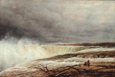 """Horseshoe Falls, Niagara, from Table Rock,"" E.G. Hallewell, 1850, oil on canvas, National Gallery of Canada."