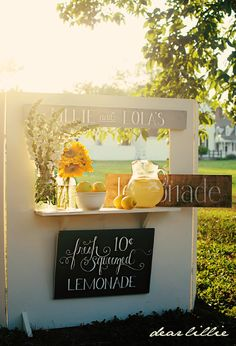 Lemonade Stand maybe for the wedding