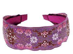 L. Erickson USA Ribbon Headband - Floral Crest - Headbands - L. Erickson USA Accessories