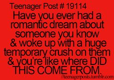 Sadly it was a long term crush. :3