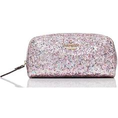 Kate Spade Glitter Bug Berrie ($68) ❤ liked on Polyvore featuring beauty products, beauty accessories, bags & cases, bags, toiletry bag, cosmetic purse, travel bag, dop kit and make up purse
