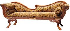 This truly sumptuous hood chaise lounge with stylized for Carved wooden chaise
