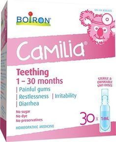 Boiron Camilia Baby Teething 30D - 1 - 30 Months $15.99 - from Well.ca