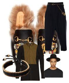 """leisure suit"" by nikolemorrowpettus on Polyvore featuring Gucci, Balenciaga, JIRI KALFAR, Études, Vitaly, men's fashion and menswear"