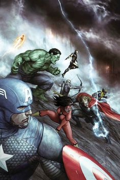 Avengers #24 // Cover Art by Agustin Alessio