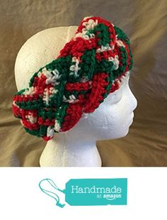 Braided Crochet headband - ear warmer - fits most teens & adults - Christmas colors of red, green & white - smoke free - pet free - free shipping to USA - measures approximately 3.75 inches wide. from PMSCRAFTS https://www.amazon.com/dp/B01KVUAFAI/ref=hnd_sw_r_pi_dp_KQdaybED33HRH #handmadeatamazon