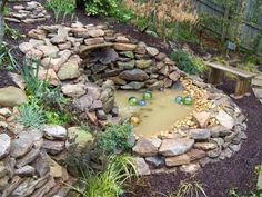 Rock Wall Pond for the Garden