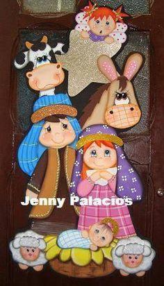 Pesebres tomados de la web :: RT Decoraciones y algo más... Christmas Nativity, Christmas Wood, Christmas Time, Christmas Crafts, Christmas Decorations, Christmas Ornaments, Foam Crafts, Diy And Crafts, Crafts For Kids