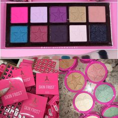 Look at all these amazing launches from @jeffreestarcosmetics I can't wait for them to launch I love the look of the #beautykiller palette and don't even get me started on the Skin Frost!  #bbloggers #jeffreestar #jeffreestarcosmetics #beautykillerpalette #skinfrost #eyeshadowpalette #highlighter