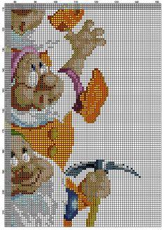 The Seven Dwarfs Cross Stitch Fairy, Cross Stitch Books, Cross Stitch Kits, Cross Stitch Charts, Cat Cross Stitches, Cross Stitching, Cross Stitch Embroidery, Stitch Disney, Stitch Cartoon
