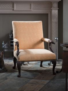 A George II Walnut Gainsborough Chair