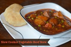 Slow Cooker Vegetable Beef Stew Recipe #recipe