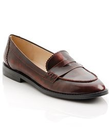 I love this penny loafer. It's a polished nod to the preppy past and I love the masculine feel. {Mona - ShoeMint}