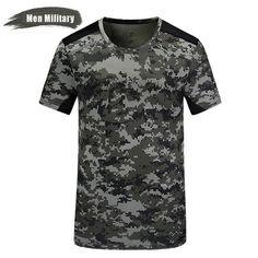 86cec6a5 Short sleeve t shirts Quick Dry Slim Fit Men Camouflage Military T-shirt  Men Shirt