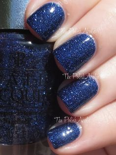 OPI Fall 2013 DS Shades: Lapis  // DS Lapis with top coat, I love the way this looks. Top coat got rid of the metallic look of the shade and it has a ton of depth thanks to the mix of glitter OPI used.