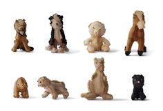 Recycled teddies that were thrown away turned inside-out and made cool