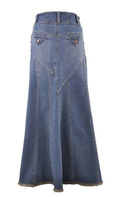 Fantastic Flared Long Jean Skirt # RE-0543