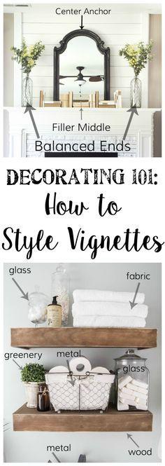 Finding DIY Home Decor Inspiration: Decorating 101 - Vignette Styling - Bless'er House...