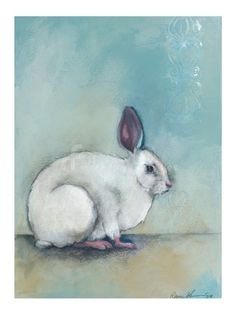 SALE White Rabbit 8x10