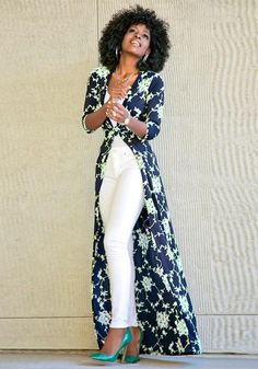Blue Floral Print Sashes V-neck Fashion Maxi Dress Classy Outfits, Chic Outfits, Spring Outfits, Fashion Outfits, African Fashion Dresses, African Dress, Dress Over Pants, Cheap Maxi Dresses, Elegant Dresses
