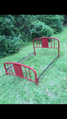 Midcentury Cast Iron Bed Frame Headboard and Footboard Cast Iron Full Size Bed Frame Hollow Iron Wrought Iron Headboard Bed Frame - Bedding Cast Iron Bed Frame, Cast Iron Beds, Wrought Iron Headboard, Bed Frame And Headboard, Bed Rails, Easy Paintings, How To Make Bed, Etsy, Bedding
