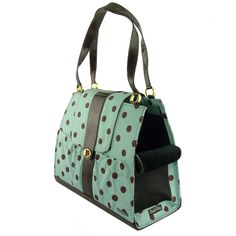 Tiffany Dots Dog Carrier Purse   Designer Pet Carriers at Glamourmutt.com