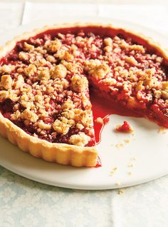 August is a good month to experiment new recipes on a hot day. Raspberry Crumble, Pastry Recipes, Tart Recipes, Sweet Recipes, Sweet Pie, Sweet Tarts, Dessert Ricardo, No Bake Desserts, Desserts