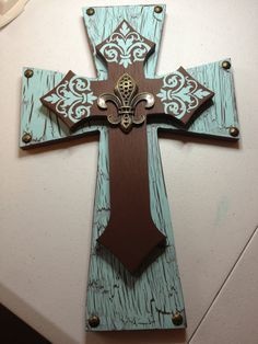 Decorative stacked cross by EnchantingCraftworks on Etsy