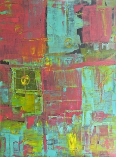 I like the use of color in this one. This artist uses many different color combinations.