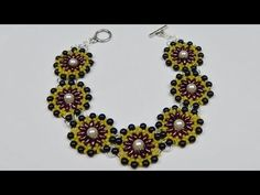 How to make a beaded pearl bracelet with twin beads beading jewelry DIY (tutorial + free pattern) - YouTube