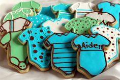 Baby Boy Onesie Sugar Cookies