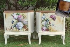 Transfers For Furniture Decopage Furniture, Recycled Furniture, Furniture Projects, Furniture Makeover, Furniture Decor, Painted Furniture, Furniture Design, Muebles Shabby Chic, Decoration Shabby