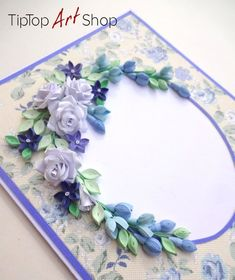 Birthday Quilling Card with Handmade Paper Flowers Quilling Birthday Cards, Paper Quilling Cards, Paper Quilling Designs, Quilling Patterns, Quilling Work, Quilling Flowers, Quilled Roses, Quilling Animals, Neli Quilling
