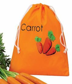 "Carrot Bag by Miles Kimball by Miles Kimball. $8.99. Keep carrots crunchy and flavorful in this bright orange fridge bag designed to extend carrot's freshness and eliminate waste. A durable alternative to flimsy supermarket bags in 100% polyester with secure drawstring closure. Wipe clean. 9"" long x 12"" wide."