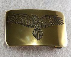 Eagle shaman brass belt buckle