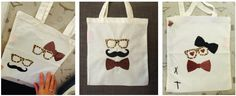 Tote-bag Lunettes et moustache - Made for You