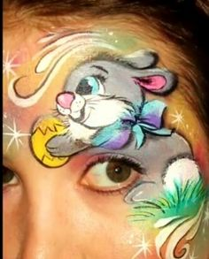 Easter bunny face painting ideas for kids