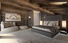 CHAMBRE projet immobilier Megeve - construction de luxe-chalet sur piste- valentinstudio -luxury chalet in Megeve-