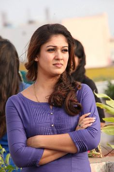 Nayanthara Pics From Good Evening Movie In Blue Dress ★ Desipixer  ★
