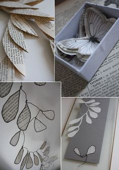 Paper Art - love the butterfly Origami Paper Art, Tissue Paper Crafts, Diy Origami, Diy Paper, Handmade Crafts, Diy Crafts, Book Page Art, Matchbox Art, Do It Yourself Crafts