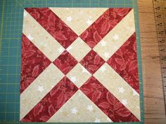 Sondra Millard Mojoquiltdesigns: This block is fun! I cut the starter squares at 10.5 inches and started the stitching at 2.5 inches and then cut at 2.5 inches instead of the 2 inches as the pattern suggests, to make a 12.5 inch (unf) block.  http://www.quiltmaker.com/content_downloads/QM_Anita_s-Arrowhead.pdf