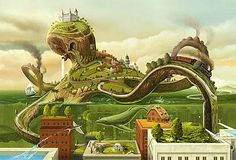 The Octopus World by Heri Irrawan | Design Inspiration + Visual Art Inspiration | Designflavr