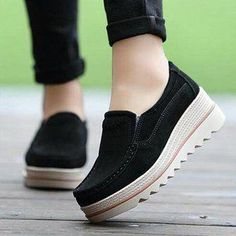 fb1dfaa9586 Casual Platform Slip On Suede Shoes  YourPinterestLikes Sneakers Fashion  Outfits